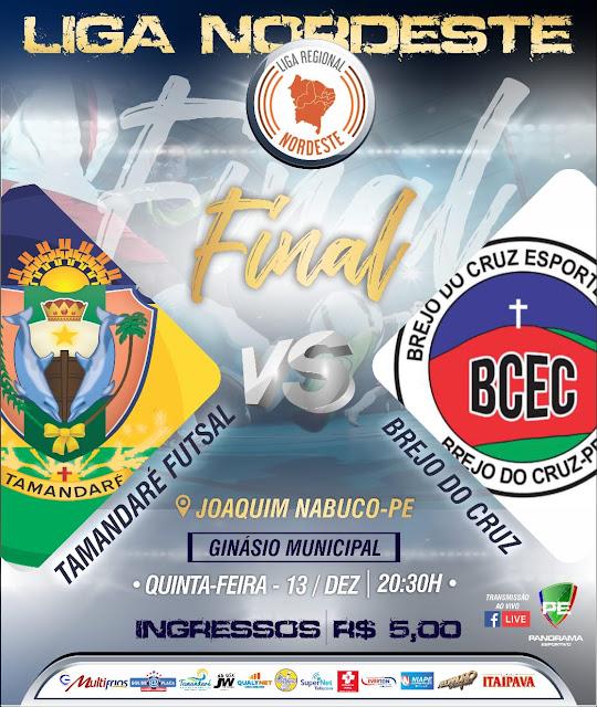 Joaquim Nabuco sediará final inédita da Liga Nordeste de Futsal 2018