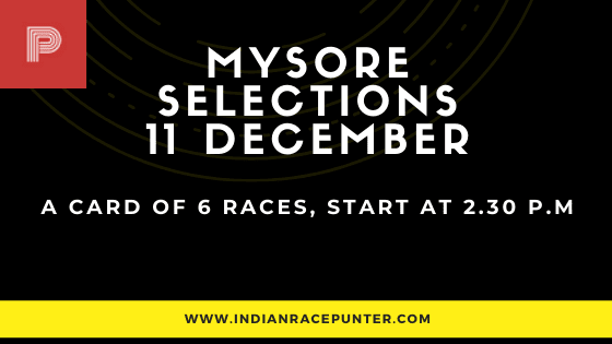 Today's  Mysore Race Tips and Selections