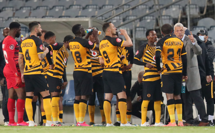 Amakhosi coach Ernst Middendorp rallying his troops against Wits