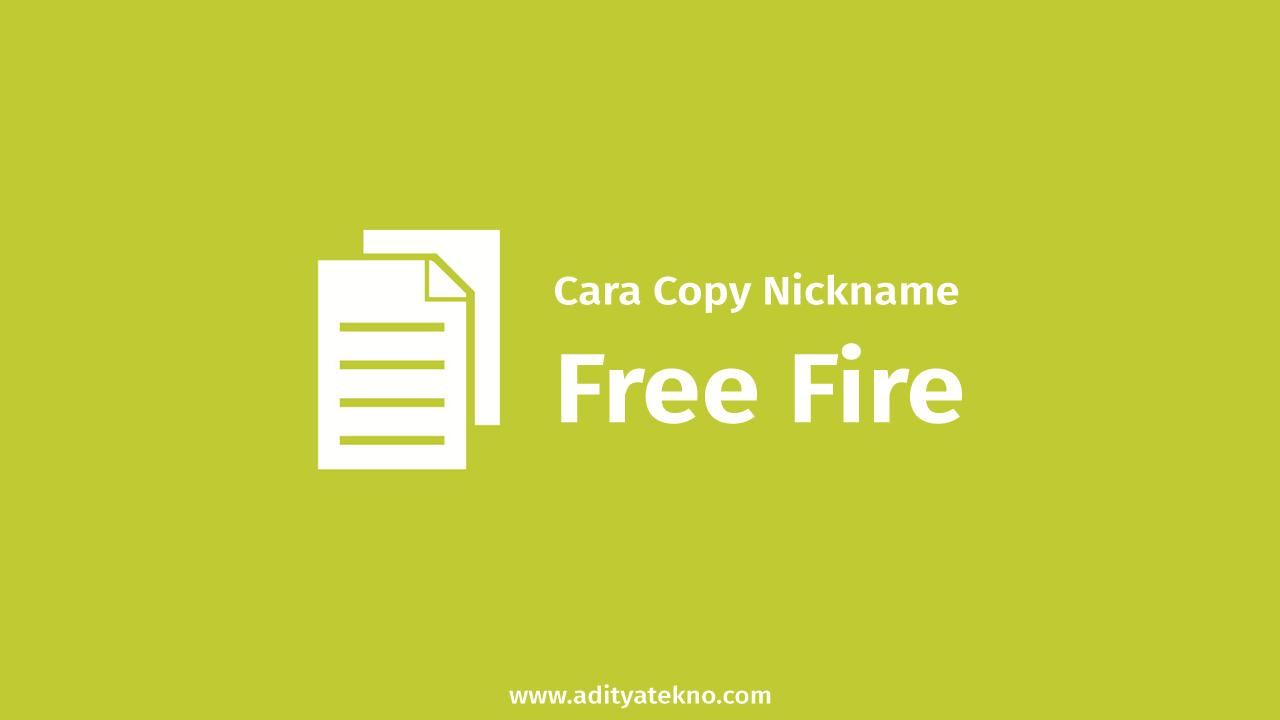 Cara Copy Nickname FF