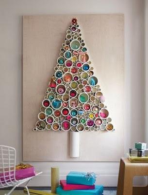 Pohon Natal dari Potongan Pipa