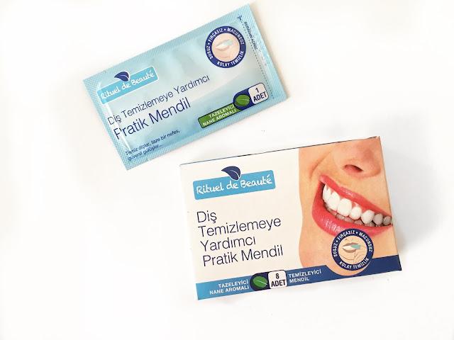 Rituel de Beauté Diş Temizlemeye Yardımcı Pratik Mendil