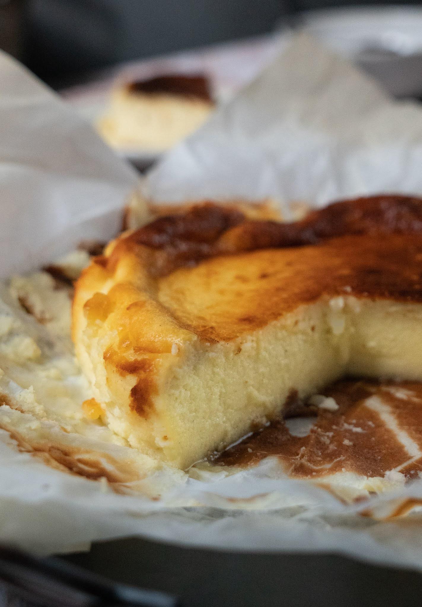 cheesecake avec cuisson , texture crémeuse