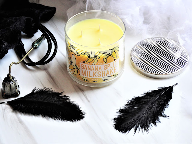 avis Banana Split Milkshake Bath & Body Works, bougie banane bath and body works, bougie 3 meches, 3 wick candle, bougie parfumee, acheter bath and body works, blog bougie, candle review, banana split milkshake review