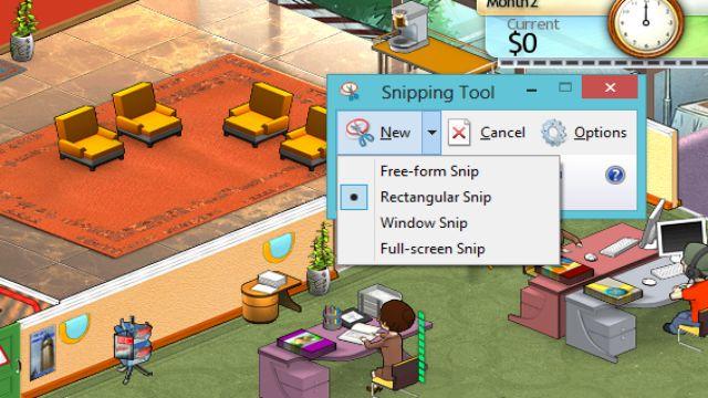 Cara Mudah SS game di PC dengan Snipping Tool