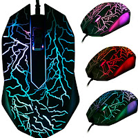 Mouse gaming 3200 DPI LED