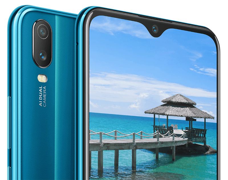 Dual-cam, halo notch screen