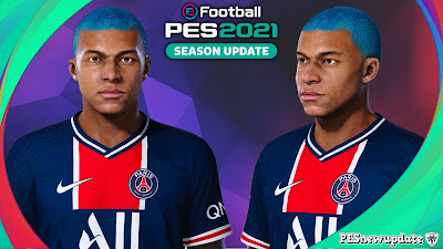 PES 2021 Faces Kyilan Mbappe by Makidan14