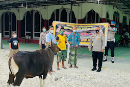 Jelang Idul Adha, Polresta Jayapura Kota Serahkan 5 Hewan Kurban ke Masjid dan Ponpes