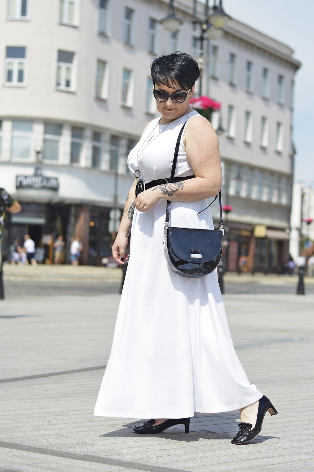 Biała Długa Sukienka  Maxi White Dress