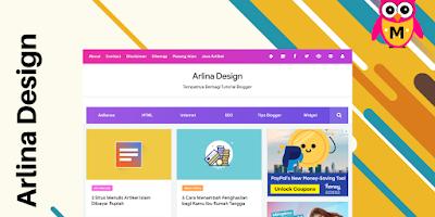 Arlina Design Blogger Template 2020