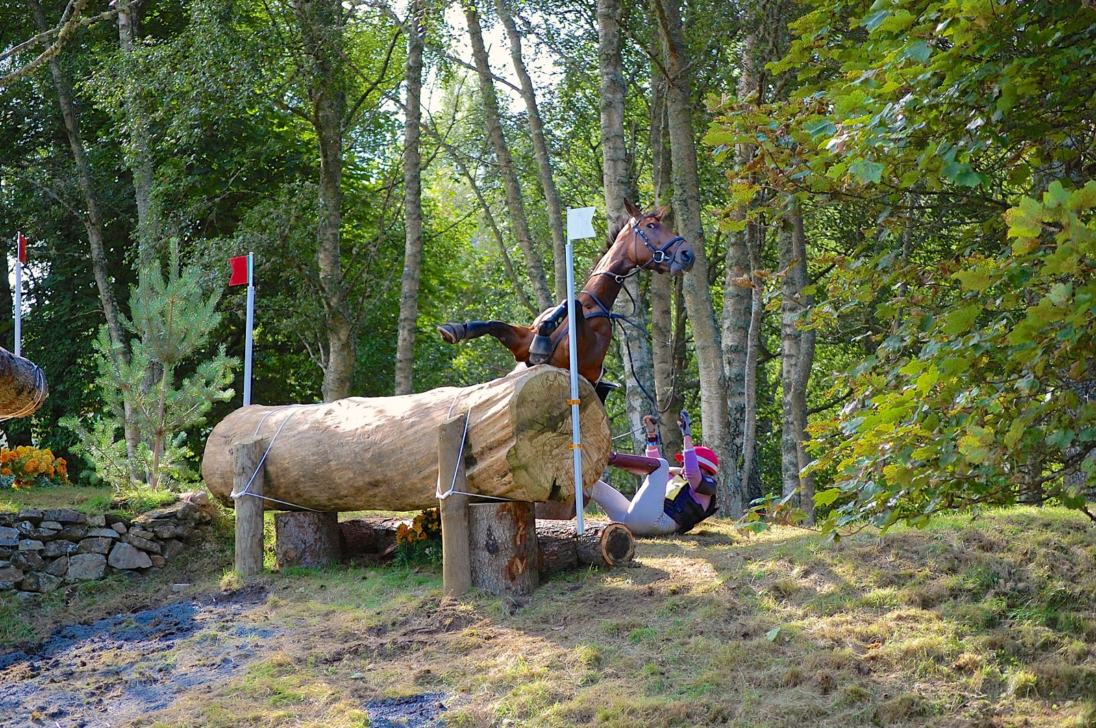Horse crash at the Blair Castle International Horse Trials