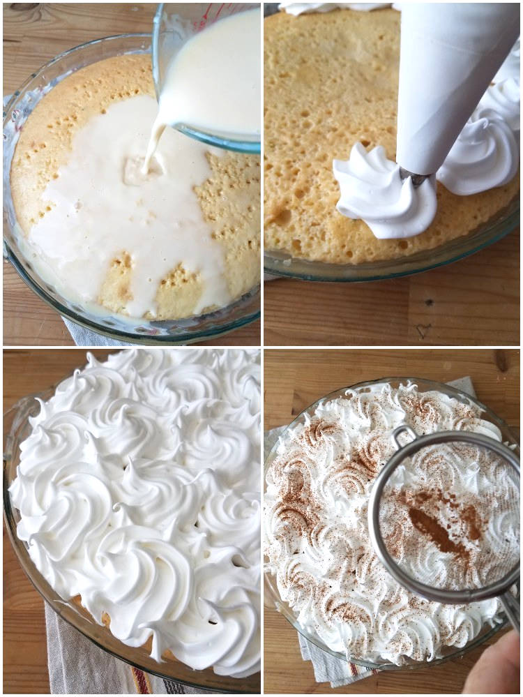 Decoración de la torta tres leches