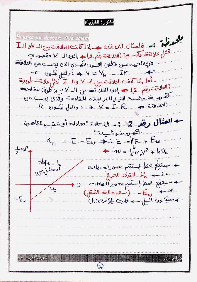 7 ورقات مهمين جدا لمسألة الرسم البياني اللي لازم تيجي أساسية فكل امتحان فيزياء للثانوية 4