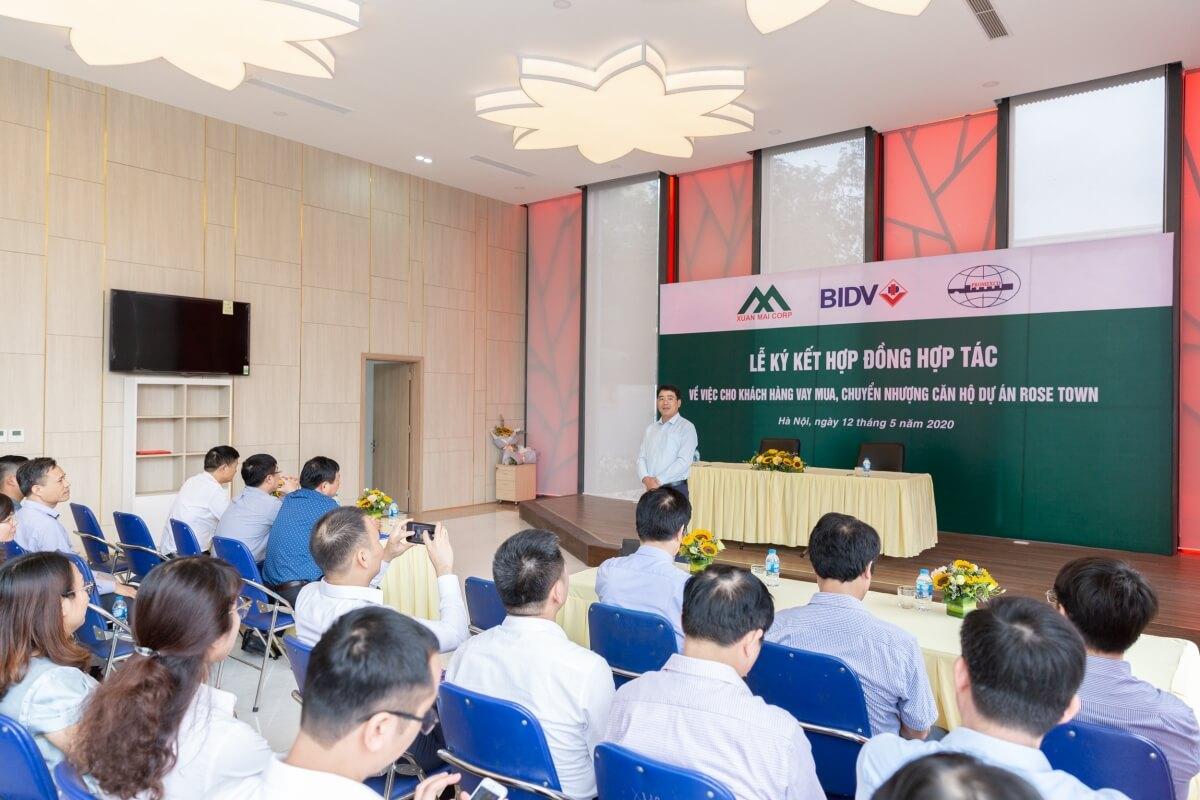 Ông Nguyễn Đức Sơn - Tổng giám đốc Xuân Mai Corp phát biểu
