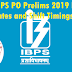 IBPS PO Prelims 2019 Exam Dates and Shift Timings