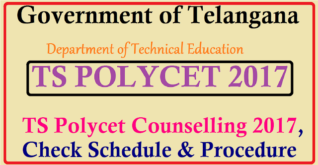 TS Polycet 2017 Web Counselling -Dates ,Procedure, Fee TS Polycet 2017 Counselling The Department of Technical Education and Government of Telangana has announced the dates of TS Polycet counselling for the year of 2017 for the purpose of allotments of seats to the applications who have quallified the entrance exam of TS Polycet 2017. The results of the entrance exam of Telangana Polycet 2017 has been declared and all students who applied for the exam and appeared for lit are able ato see the results and their respective scores on the website which is tspolycet.nic.in . Through this exam the State Board of Technical Education and Training, TS allow admission into various colleges of Telangana for Polytechnic and Diploma study programmes./2017/05/ts-polycet-2017-web-counselling-dates-check-schedule-procedure-fee.html