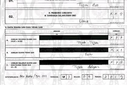 KPU Salah Input Lagi! Suara Jokowi 72, Ditulis Jadi 723 Suara
