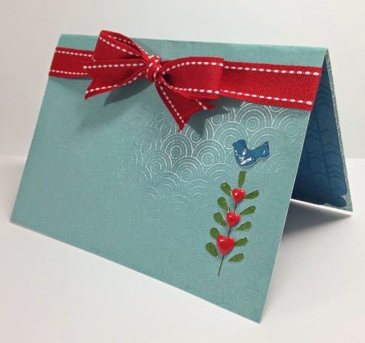 Close To My Heart Artfully Sent Cricut cartridge Pop Up Bird card sideview