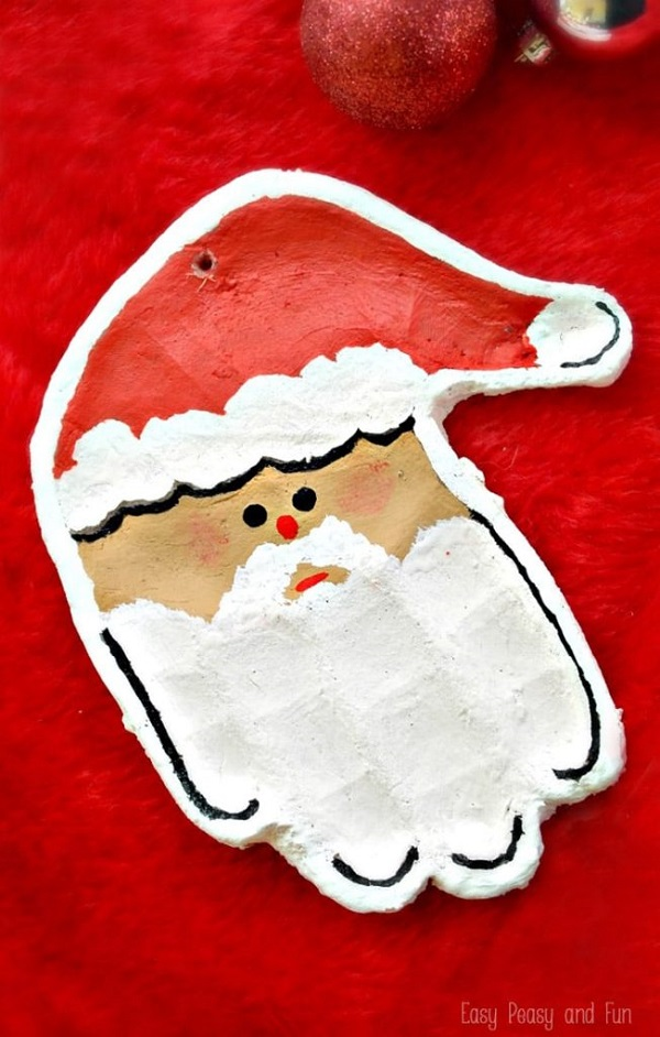 Santa Salt Dough Ornament