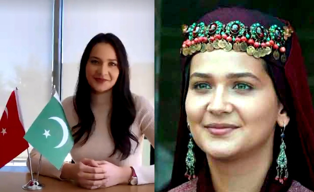 Ertugrul Ghazi's actress Aslihan Hatoon's Video Message to Pakistani Fans