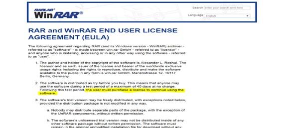 هذا هو السبب الغريب الذي يجعل برنامج Winrar يستمر بالعمل رغم انتهاء المدة التجريبية