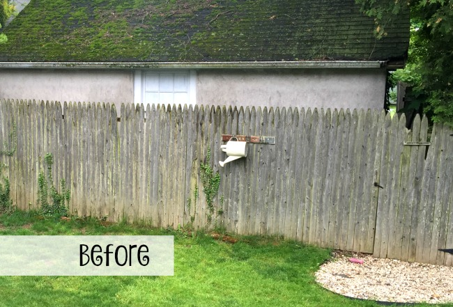 Before photo of old fence