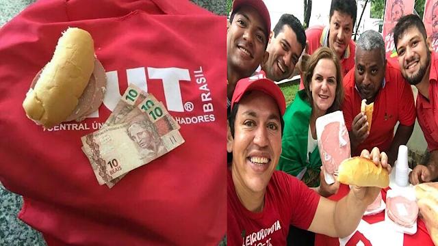"""As provas de R$ 1 milhão dos recursos da União para bancar o """"Lula Livre"""" - gastos com mortadela e pão"""
