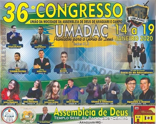 ARAGUARI: 36ª Congresso UMADAC