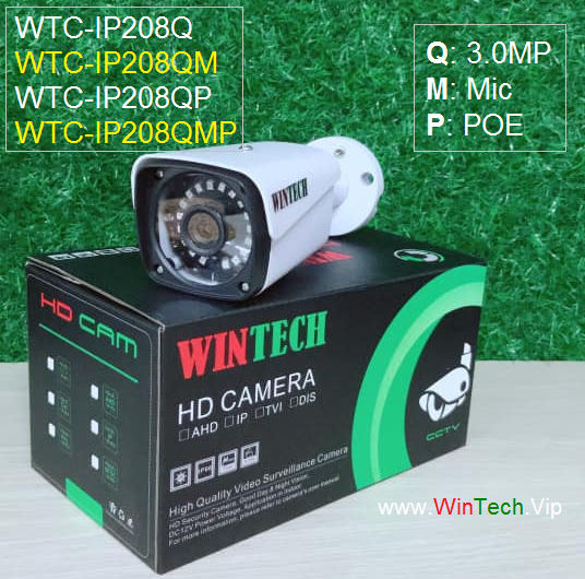 Camera IP WTC-IP208QMP độ phân giải 3.0MP