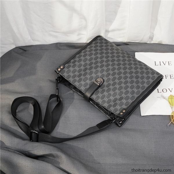 Túi đeo chéo da sang trọng đẳng cấp họa tiết GXD độc đáoDNM027