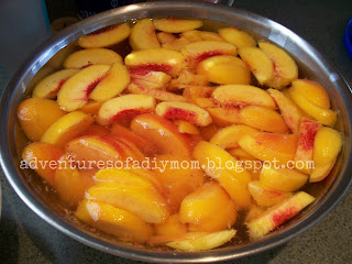 peaches in water solution