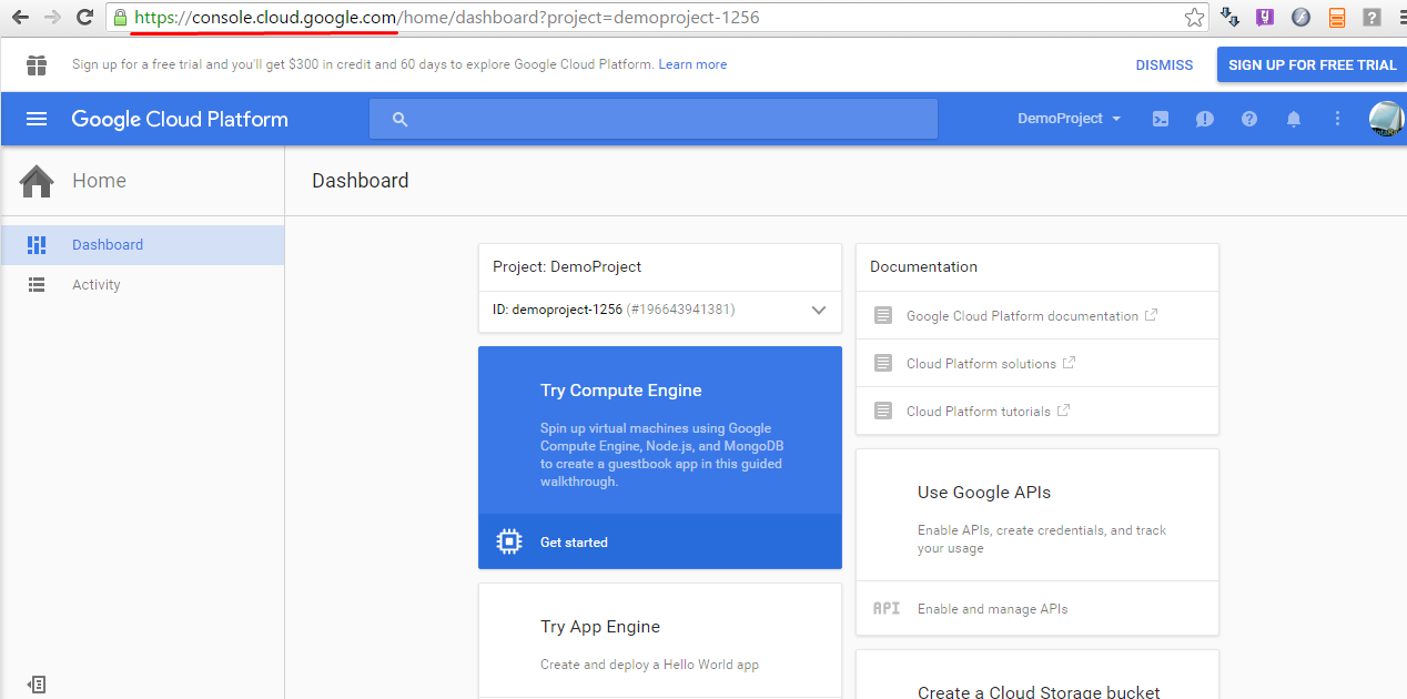 Android development steps - Google developper console ...