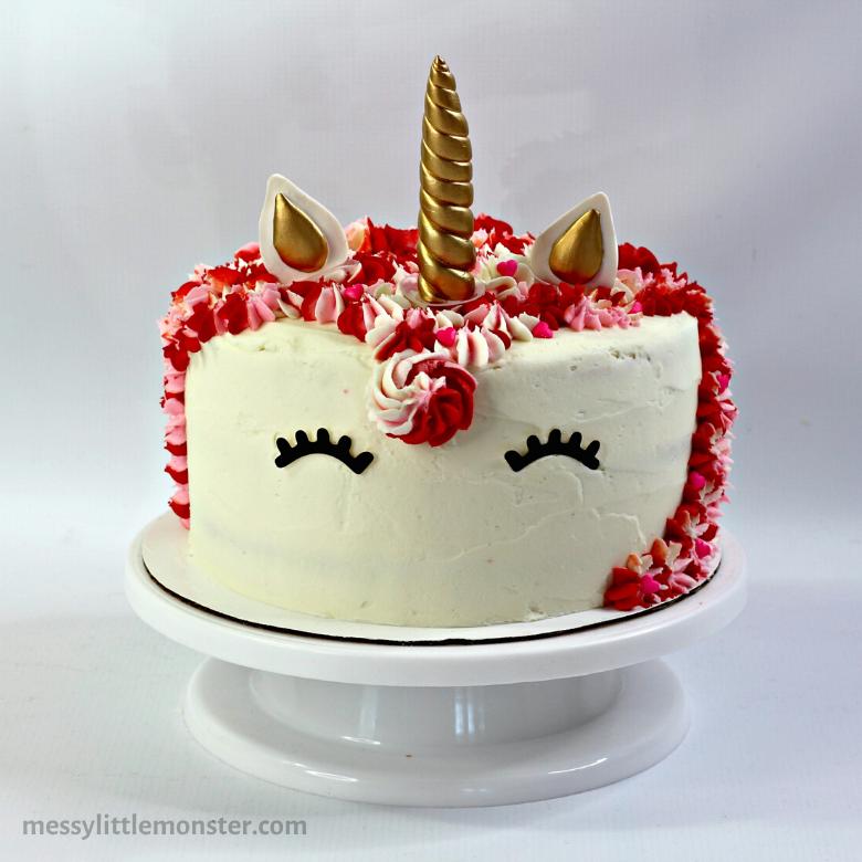 Easy unicorn layered cake