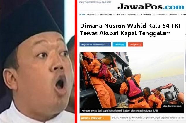 Woi, Dimana Kepala BNP2TKI Nusron Wahid Kala 54 TKI Tewas Akibat Kapal Tenggelam?