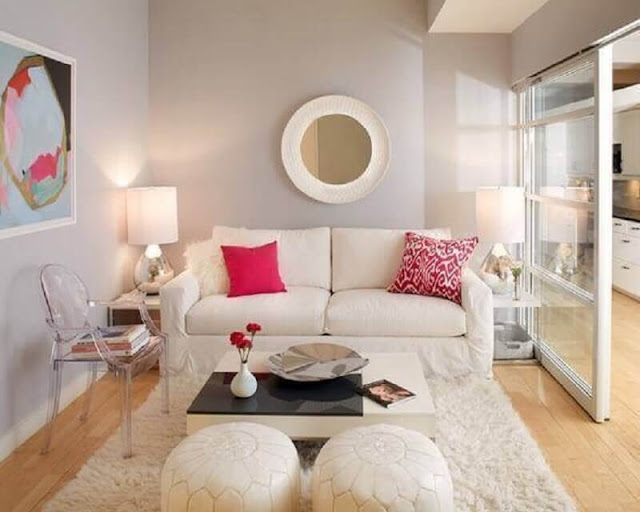 Living room decor with transparent chair