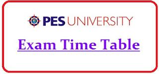 PES University Exam Date Sheet 2021