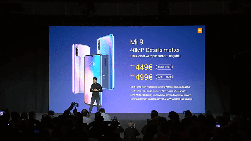 #MWC19: Xiaomi releases Mi 9 triple-camera phone in Europe