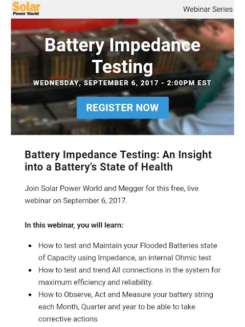 Free Webinar Battery Impedance Testing: An Insight into a Battery's State of Health