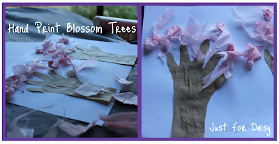 Hand Print Blossom Trees - Just For Daisy