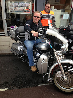 Picture of Roberto on a Harley Davidson 2