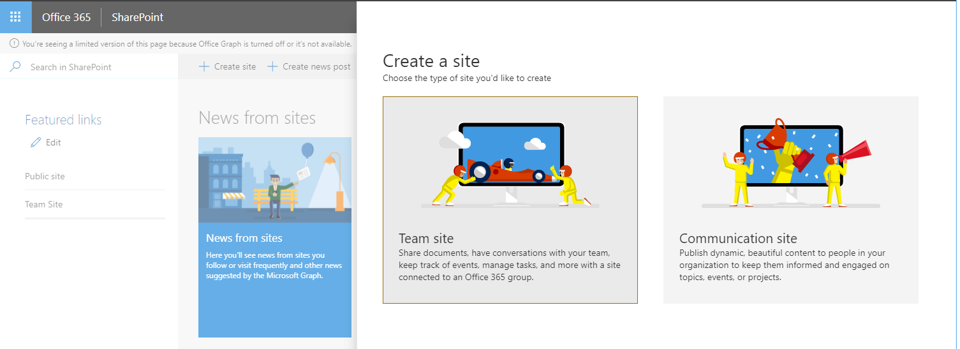 SharePoint Talk: Summary about Modern Team Sites