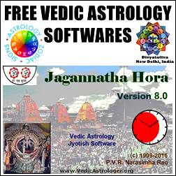 Vedic astrology software package in the market .Some of the features of this astrology software are : Bhava chalit chakra using various house division schemes (rasi houses, equal 30 deg houses, equal houses based on 9 nakshatra padas, Sripathi/Porphyry, Krishnamoorthy/Placidus, Koch,