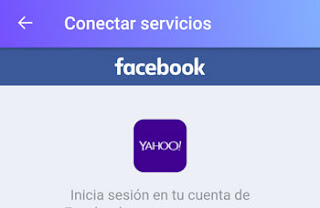 Como Conectar Yahoo Mail con Facebook desde la app