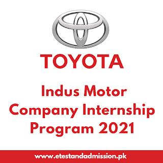 Toyota Indus Motors Internship Program 2021