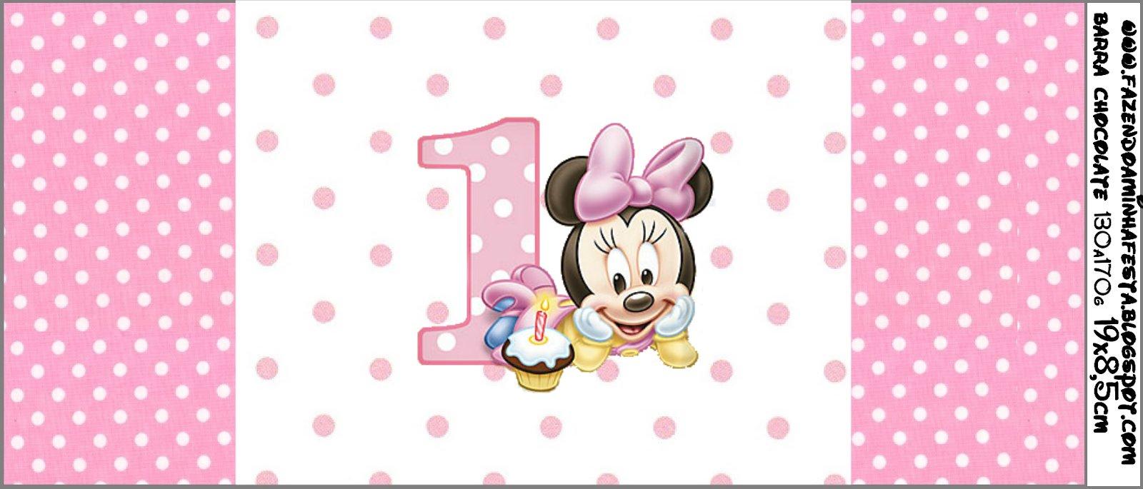 Invitaciones De Minnie En Su Primer Año Para Imprimir Gratis