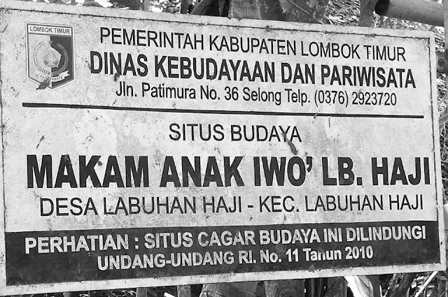 Sejarah makam Anak Iwoq Labuhan Haji. Tengkorak manusia dan Doa