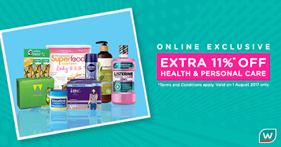 Watsons Malaysia Online Store Exclusive Discount Promo