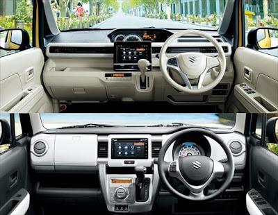 新型ワゴンR ハスラー 内装インパネ 画像比較