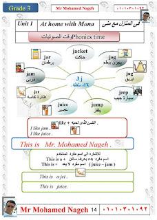 مذكرة يلا نذاكر في اللغة الانجليزية للصف الثالث الابتدائي الترم الأول للاستاذ محمد ناجح